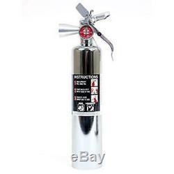 H3R Performance 2.5 lb. HalGuard Chrome Clean Agent Fire Extinguisher HG250C