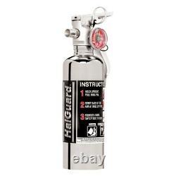 H3R Performance HG100C HalGuard Chrome 1.4 lb Clean Agent Fire Extinguisher