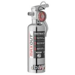 H3R Performance MX100C Maxout Dry Chemical Car Fire Extinguisher 1.0 lb Silver