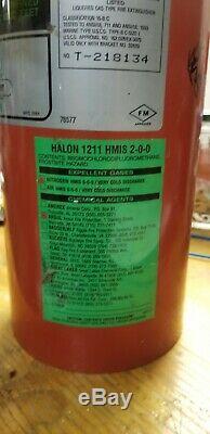 Halon 1211 fire extinguisher 10 lb boat aircraft plane watercraft car computer