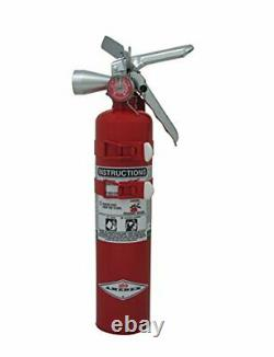 Halotron Class B C Fire Extinguisher 9 Sec Discharge Time Non Corrosive 2.5 lb