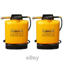 Indian FEDCO 5 Gallon Backpack Tank Water Hand Pump Fire Extinguisher (2 Pack)