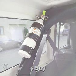 Jeep Wrangler Fire Extinguisher Holder Straps Adjustable Roll Bar Mounted Set