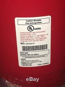 KIDDE PRO20CDM Fire Extinguisher, 10BC, Carbon Dioxide, 20 lb. 6T548