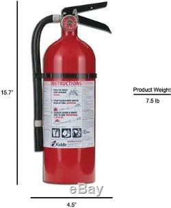 Kidde Fire Extinguisher Pro 210 2-A10-BC Rechargeable Dry Chemical Bundle of 3