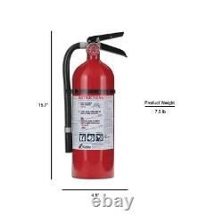 Kidde Pro 210 2-A10-BC Fire Extinguisher Rechargeable Hose Wall Hanger 3-Pack