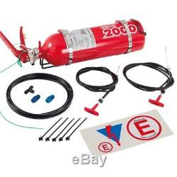Lifeline Racing 2.25 Liter 5lb Fire Extinguisher System Zero 2000 AFFF Bottle