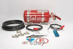 Lifeline Racing 4.0 Liter 10b Fire Extinguisher System Zero 2000 AFFF Bottle