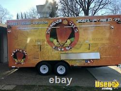 Loaded 2020 8' x 18' Food Concession Trailer with Commercial Kitchen Equipment