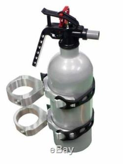 Modquad UTV Fire Extinguisher POLISHED Mount For 1 1/2-1 3/4 Roll Cage RZR-EXT