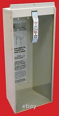 NEW (2020) 5-LB FIRE EXTINGUISHER COMPLETE WithCABINET GLASS, LOCK & BRERAKER BAR