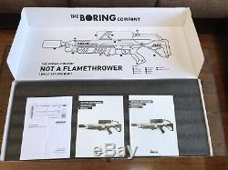 NEW Boring Company Not A Flamethrower, Fire Extinguisher and Propane tank