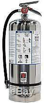 NEW STRIKE FIRST 6 LITER K-CLASS FIRE EXTINGUISHER With 2 SIGNS AND WALL BRACKET