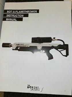 NEW The Boring Company Not A Flamethrower + Boring Fire Extinguisher + $5 Letter