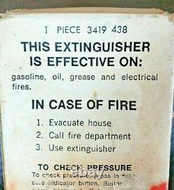NOS 1969 Chrysler Parts Dealer Dry Chemical Red Fire Extinguisher Mopar 3419438