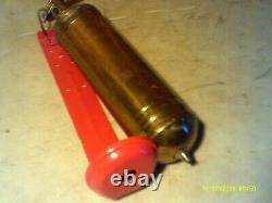 NYCS NEW YORK CENTRAL SYSTEM Railroad Company Brass Fire Extinguisher WithBracket
