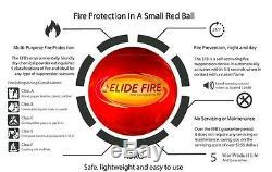 Original Elide Fire Extinguisher Ball Auto-Ignition A-B-C-E Class EU Standards