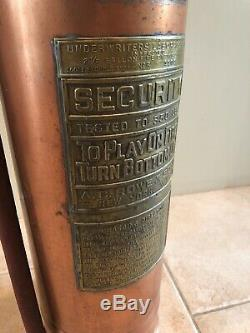 RARE Central Railroad of New Jersey A. C. ROWE & Son Copper FIRE EXTINGUISHER