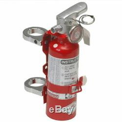 Red 1LB Fire Extinguisher Kit Clamps for 1.75 Inch Tubing for Offroad Sandrails