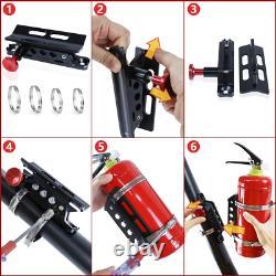 Roll Bar Fire Extinguisher Holder Bottle Storage Car Mount Bracket Adjustable