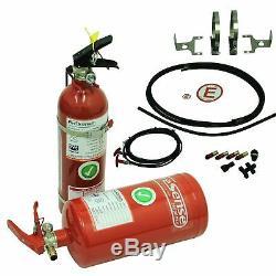 SPA Design Race / Rally FIA Steel Mechanical Foam Fire Extinguisher 4 Litre Kit