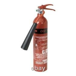 Sealey 2Kg Fire Extinguisher Dry Powder CO2 Type B Portable Refillable SCDE02