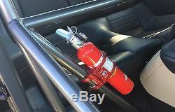 TEK208 Quick Release Fire extinguisher 2.00 Roll Bar mount (Black Anodized)