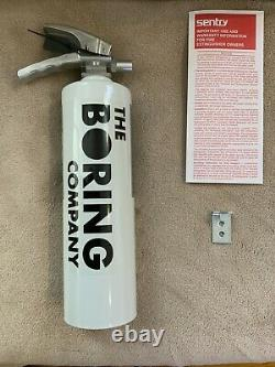 The Boring Company Fire Extinguisher for Not-A-Flamethrower Elon Musk New