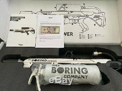 The Boring Company Not A Flamethrower + $5 Letter + Fire Extinguisher Elon Tesla