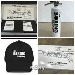 The Boring Company Not A Flamethrower + $5 Letter + Fire Extinguisher + Hat