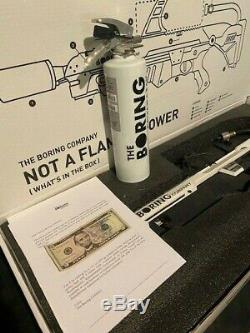 The Boring Company Not A Flamethrower + Fire Extinguisher + $5 note never used