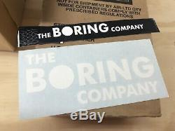 The Boring Company Not-A-Flamethrower Fire Extinguisher, Hat, Wristband, Sticker