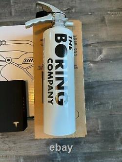 The Boring Company Not A Flamethrower + Fire Extinguisher + Tesla Shorts + Hat