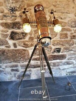 The Steamship'Empire' Tripod lamp, steampunk, sci fi, lighting, industrial