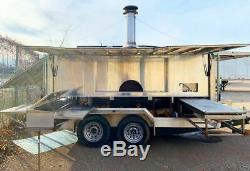Turnkey State-of-the-Art 2017 8' x 12.5' Wood-Fired Pizza Trailer for Sale in Oh