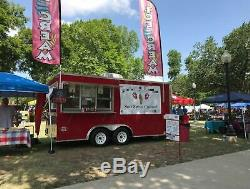 Used Fully Loaded 2016 8' x 16' Spartan Ice Cream / Soft Serve Concession Traile