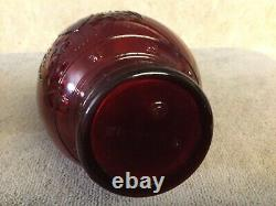 VINTAGE Wheaton N. J. Glass Fire Extinguisher Bottle Eagle & Stars Rich Ruby Red