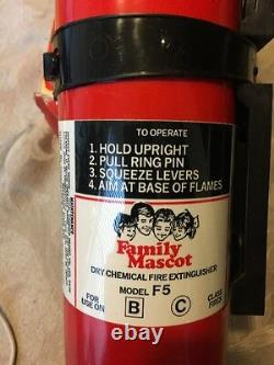 Vintage American Family Mascot Fire Extinguisher NEW IN BOX