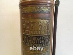 Vintage Buffalo Fire Extinguisher New York Central Lines Copper