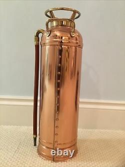 Vintage Chief Croker Fire Extinguisher Antique Copper and Brass Empty, New York